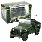 KAIDIWEI 1 18 Scale Diecast Model Willys Jeep Military US Army Vehicle Toys