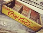 Vintage 1965 Near Mint Yellow Coke Coca Cola Wood Soda Crate #171