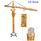 O Scale 150 Models Diecast Tower Slewing Crane Construction Vehicle Car By KDW