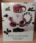 NIB Fitz & Floyd Snack Therapy Cocoa For One Santa Red Green Plaid Holly Cute!