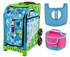 Zuca Sport Bag Be Zappy with Lunchbox and Seat Cover Green