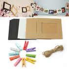 10 Pcs Hanging Wall Photo Picture Paper Album Stand Craft Frame Rope Clips New