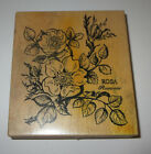 Rosa Rosaceae Rubber Stamp PSX Rose Plant 4 High Flowers Rare Wood Mounted