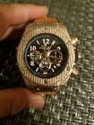 hublot luxury watch gold leather band new