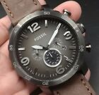 NEW OLD STOCK FOSSIL JR1424 JUMBO 50MM CHRONOGRAPH DATE QUARTZ MEN WATCH