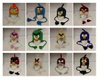 Hand Knitted 100% Wool Winter Beanie Hat with Cartoon Birds Characters