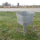 Wheeling Galvanized Single Was Tub Beer Cooler Flower Pot Plant Stand Bucket aJ