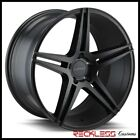 ELEMENT 20 EL1185 BLACK CONCAVE WHEELS RIMS FITS NISSAN ROUGE MURANO