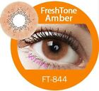 FreshTone Cosmetic Soft Contact Super Natural AMBER w FREE CASE