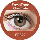 FreshTone Cosmetic Soft Contact lens Super Natural CHOCOLATE w FREE CASE