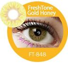 FreshTone Cosmetic Soft Contact lens Super Natural GOLD HONEY w FREE CASE