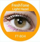 FreshTone Cosmetic Soft Contact lens Super Natural LIGHT HAZEL w FREE CASE
