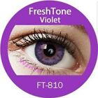 FreshTone Cosmetic Soft Contact Lenses Super Natural VIOLET w FREE CASE