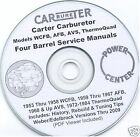 Carter WCFB AFB AVS ThermoQuad 4 Four Barrel Manuals