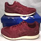 Asics Mens Size 8 Gel Classic Burgundy Retro Leather Casual Running Shoes New