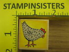 Rubber Stamp Chicken Little by Rubber Stampede Farm Bird Stampinsisters 1777