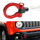 Sports Red Track Racing Style Aluminum Tow Hook Ring For 2015 up Jeep Renegade