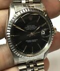 VINTAGE MENS OYSTER PERPETUAL ROLEX WATCH DATEJUST STAINLESS STEEL 16030 JUBILEE
