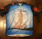 VINTAGE LOUIS GARNEAU TEXASHOOK EM HORNS CYCLING BICYCLE JERSEY SZ 2XL
