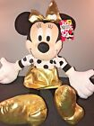 DISNEY 22 Gold Minnie Mouse Plush Rock the Dots Adorable great for valentines