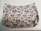 Thirty one Fitted Purse Skirt Tan with Patriotic HeartsStars Skirt only