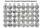 2010 2017 P  D America The Beautiful Park Quarter All 8 years 2 Rolls 80 coins