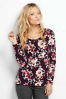 NWT Lands End Aged Wine Water Floral Print Sizes XS S M L
