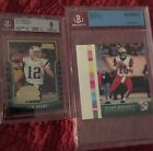 TOM BRADY Bowman ROY 2000 BGS 9 & PACIFIC ROOKIE Proof CARD 403 1 1 Authentic SP