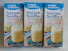 Weight Watchers SMOOTHIE Shake French VANILLA  3 Boxes  21 Shake Mixes