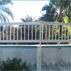 Above Ground Swimming Pool White Resin Safety Fence Choose by Sections