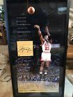 michael jordan signed Game-used Floor Piece (UDA COA) Limited Edition out of 123