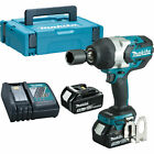 Makita DTW1001 18v Cordless LXT Brushless Impact Wrench 2 x 5ah Li-ion