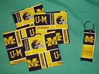 New COASTERS SET and or KEYCHAIN key ring U of M UNIVERSITY MICHIGAN WOLVERINES