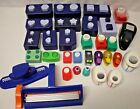 Lot of CREATIVE MEMORIES PAPER PUNCHES 40 Punches + Fiskars Crimper and Punch