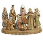 Nativity 8 Piece Set 17 With Base Wood Look Resin Stone Joseph Studio