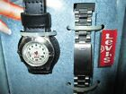 Levi Strauss Women's Silver Tone Clip-On Watch with Interchangeable Band (NIB)