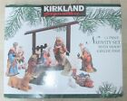 Kirkland Signature 13 Piece Nativity Set 75177 w Wood Creche EUC