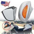 US Silver Rearview Side Mirrors Amber Turn Signals For BMW R1100 RT RTP R1150 RT