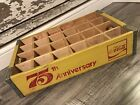 #178 Vintage 1977 75th Anniversary Coke Enjoy Coca Cola Wood Soda Crate