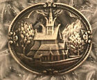 ANTIQUE VINTAGE NORWAY 830S SILVER LARGE RARE BROOCH