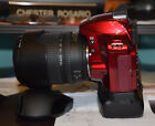 Nikon D3200 244MP DSLR Camera W 18 135MM Lens AF S Nikkor RED Battery Grip