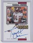 2001 Upper Deck Vintage Signatures Terrell Owens ON CARD Auto SAN FRANCISCO49ERS