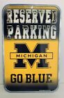 Michigan Wolverines Reserved Parking Go Blue Bulletin Sign Banner 10 3 4 x 165