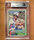 Tim Raines 1981 Topps Traded Rookie AUTOGRAPH auto BGS Authentic psa