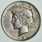 Early 1922 Peace Silver Dollar 90 Silver US Coin 167