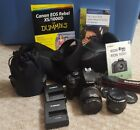 Canon Rebel XS EOS 1000D DSLR Black Bundle 2 cases Kit Lens Prime Lens books
