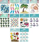 U CHOOSE Jolees BEACH Stickers Flip Flops Seashells Palm Tree Sandcastle Anchor