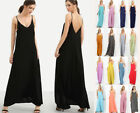 Oversized Long Maxi Dress Cami Sleeveless Loose Soft Knit Solid Basic Summer