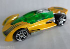 2001 Hot Wheels OPEN ROADSTER 1:64 Car Yellow Green Racer Twin Turbo Car  EVC!