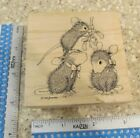 MISTLETOE MOMENT MW RUBBER STAMP STAMPA ROSA HOUSE MOUSE